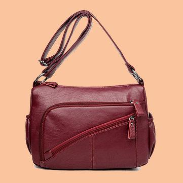 Women Elegant Multi-pockets Shoulder Bags Daily Crossbody Ba-Newchic-