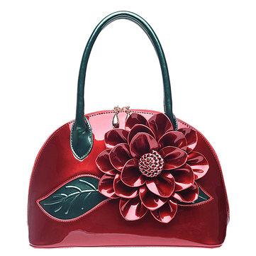 Women Fashion High Light Patent Leather Waterproof Handbag-Newchic-