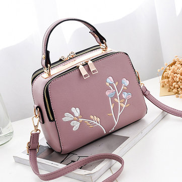 Women Floral Embroidery Retro Mini Crossbody Bag-Newchic-
