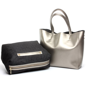 Women Genuine Leather Large Capacity 2PCS Handbags Shoulder Bag-Newchic-