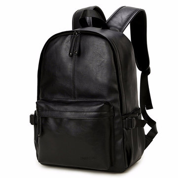 Women Men Black Casual Travel Outdoor Backpack Girls Leisure Schoolbags-Newchic-