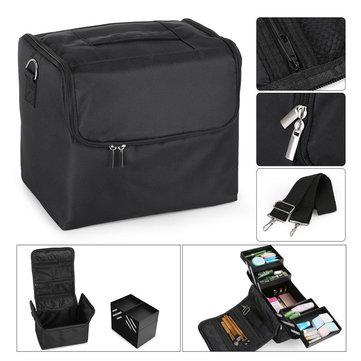 Women Multi-Layer Case Hand-held Holder Makeup Storage Bag Oxford Cloth Storage Container-Newchic-