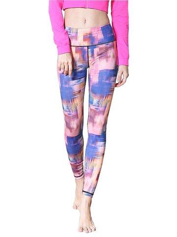 Women Oil Painting Printed Yoga Leggings-Newchic-