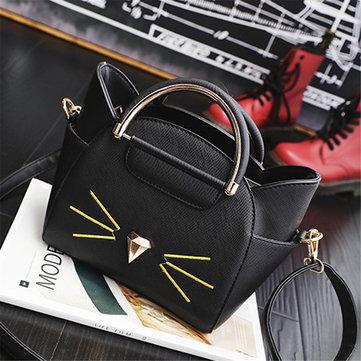 Women PU Leather Cat Crossbody Bag Elegant Animal Shape Shoulder Bag-Newchic-