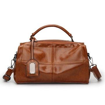 Women PU Leather Handbag Retro Oil Leather Crossbody Bag-Newchic-