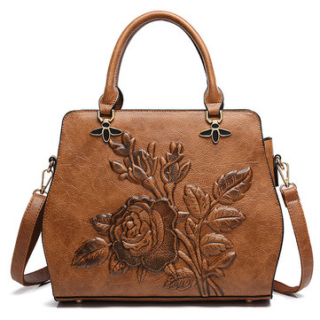 Women Rose Embroidery Handbag-Newchic-
