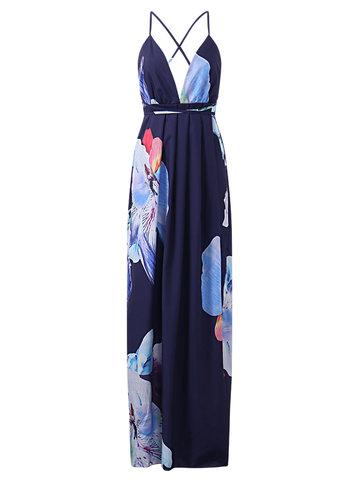 Women Spaghetti Strap Maxi Dresses-Newchic-