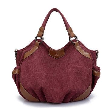 Women Vintage Casual Canvas Hobo Handbag Shoulder Bag Crossbody Bag-Newchic-