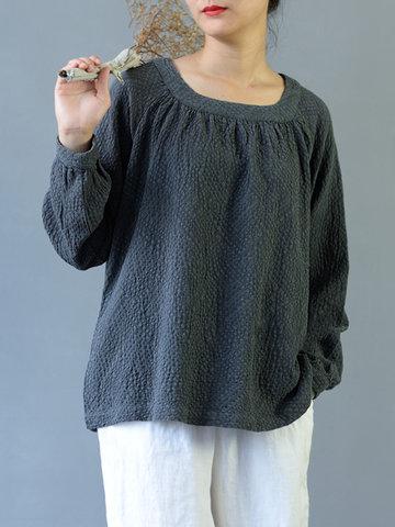Women Vintage Loose T-shirts-Newchic-