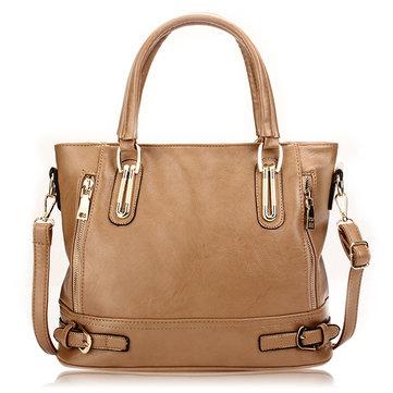 Women Vintage Side-Zipper Bucket Shoulder Bag-Newchic-