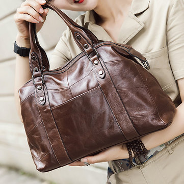 Women Vintage Stitching Genuine Leather Crossbody Bag-Newchic-