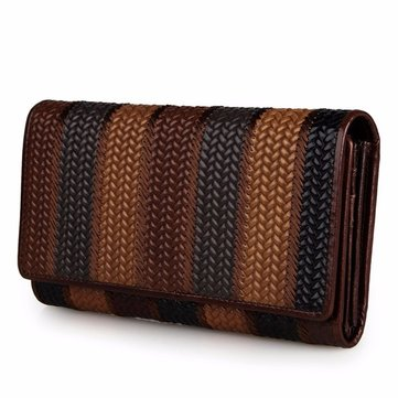 Women Vintage Texture Surface Flower Pattern Multi-slots Wallet Card Holder Coin Bags-Newchic-