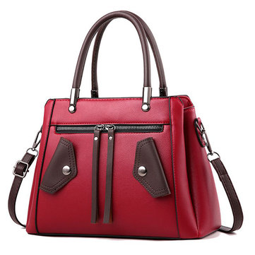 Women Zipper PU Leather Handbag-Newchic-