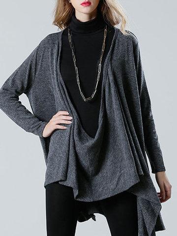 YIZHIYU Casual Solid Multi-Way Cardigans-Newchic-