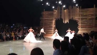 Chivalrous Ending on the Runway! Fashion Show by designer Ezra Santos :)