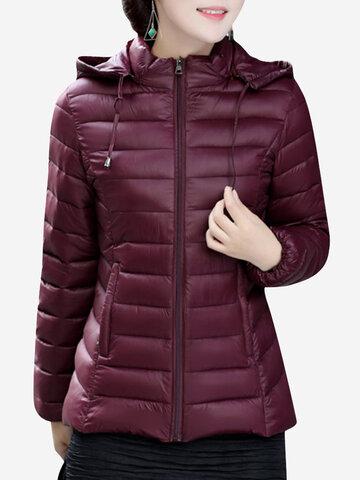 Irregular Hooded Women Down Coats-Newchic-