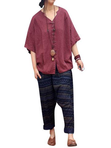 Pure Color Bat Sleeve Women Blouses-Newchic-