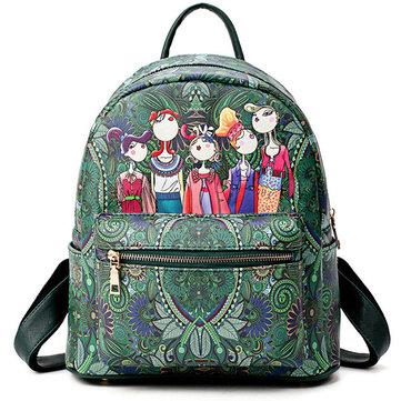 Women Bohemian Forest Series Backpack-Newchic-