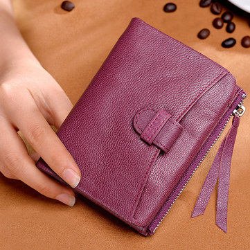 Women Light Genuine Leather Small Wallet-Newchic-