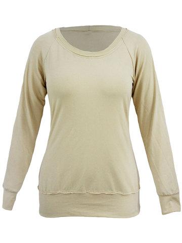 Women O-neck T-shirts-Newchic-